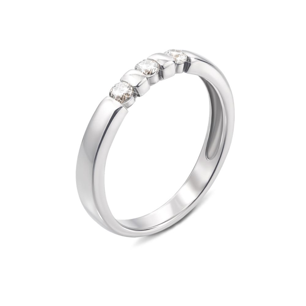 Золотое кольцо с фианитами. Артикул 13102б