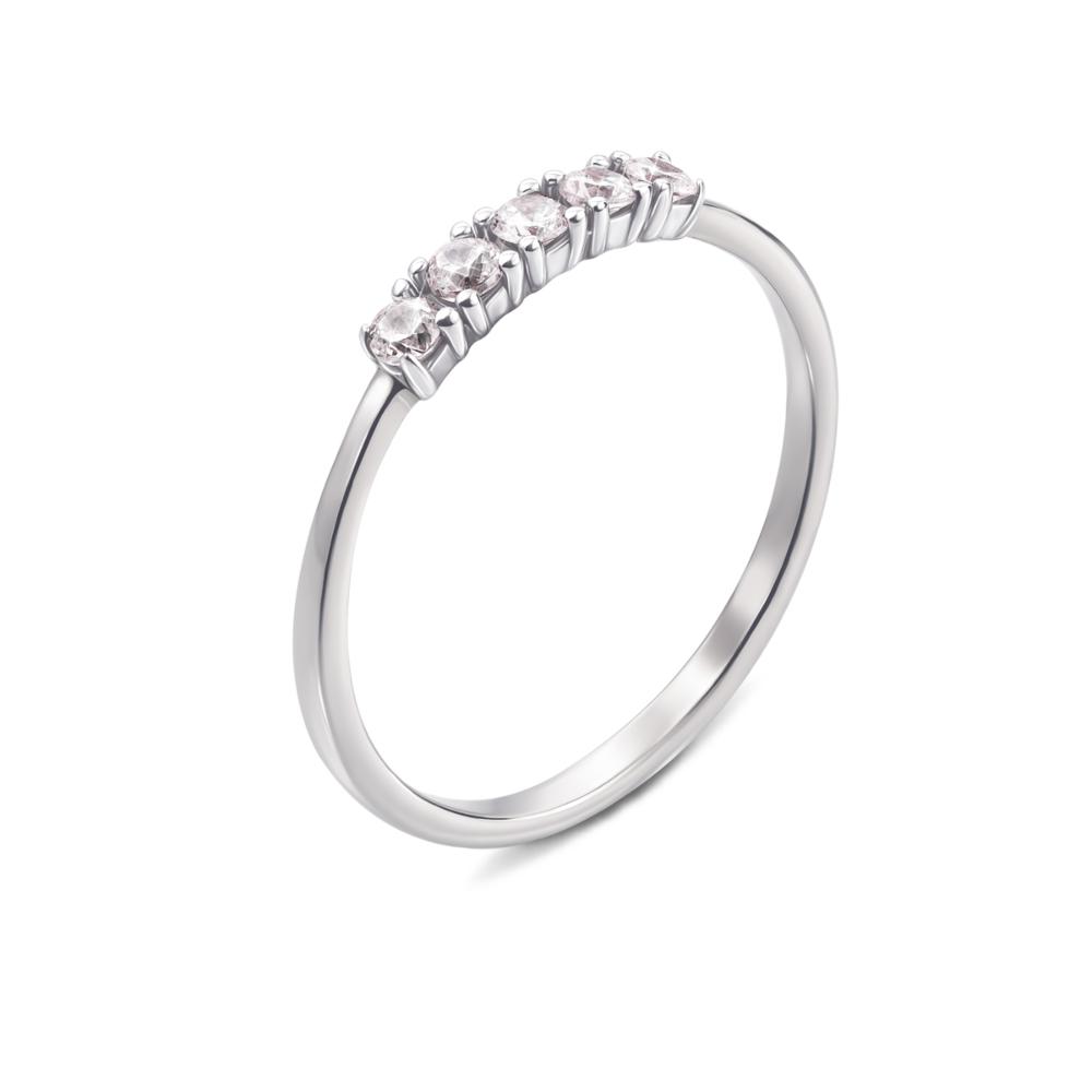 Золотое кольцо с фианитами. Артикул 13104/б