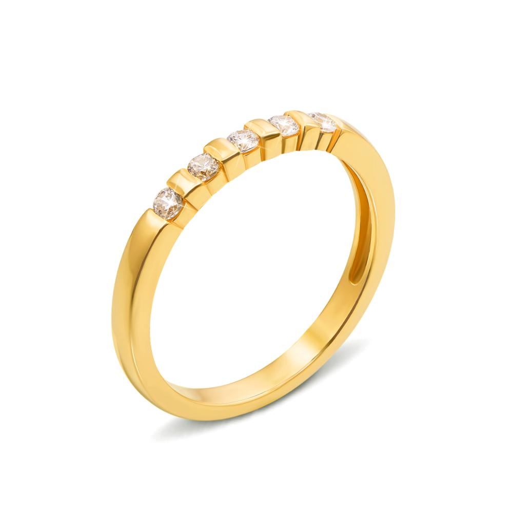 Золотое кольцо с фианитами. Артикул 13111/eu