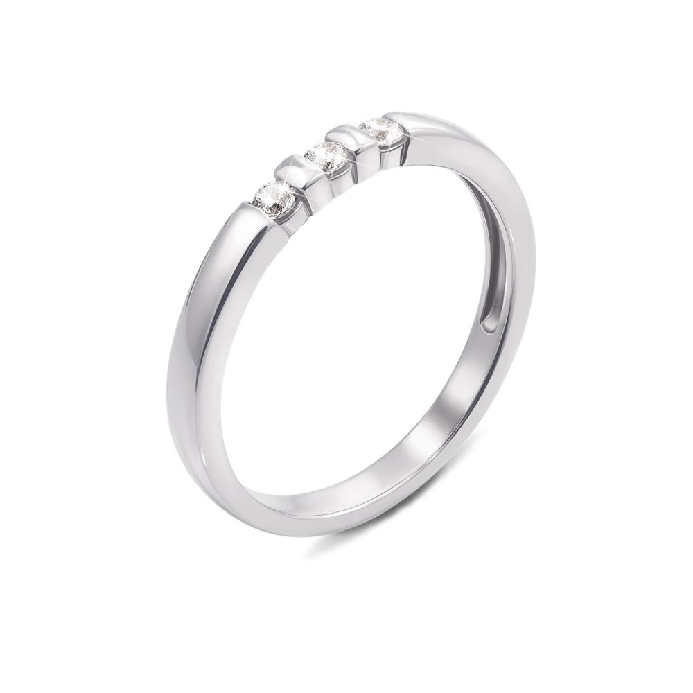 Золотое кольцо с фианитами. Артикул 13112/б