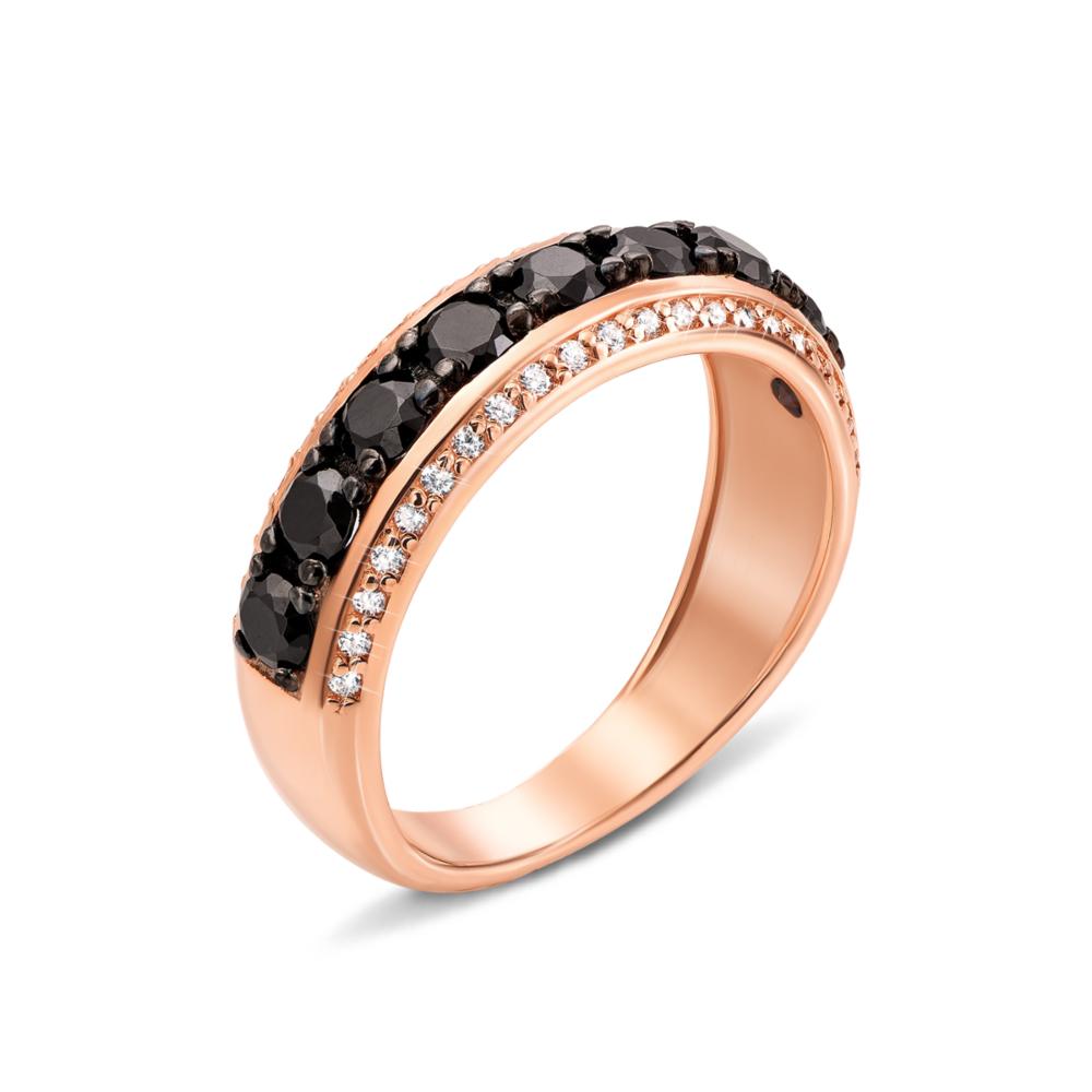 Золотое кольцо с фианитами. Артикул 13118/ч