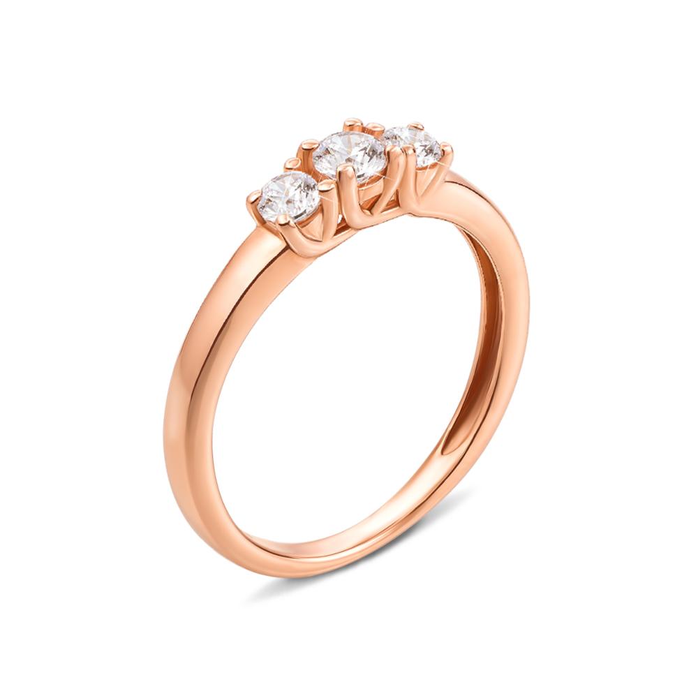 Золотое кольцо с фианитами Swarovski Zirconia. Артикул 13124/01/0/301 (13124/SW)