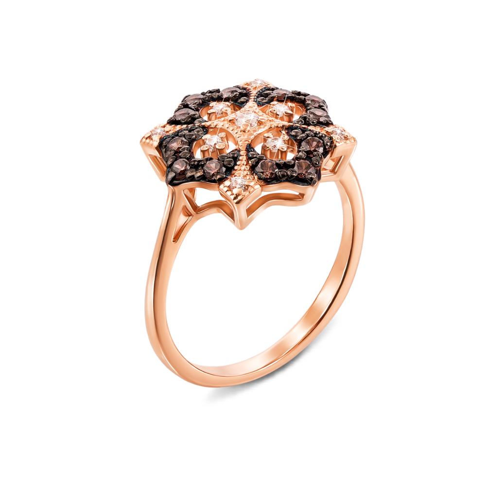 Золотое кольцо с фианитами. Артикул 13125/01/1/302