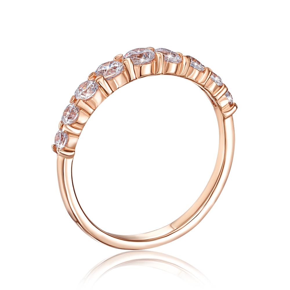 Золотое кольцо с фианитами Swarovski Zirconia. Артикул 13131/01/0/457