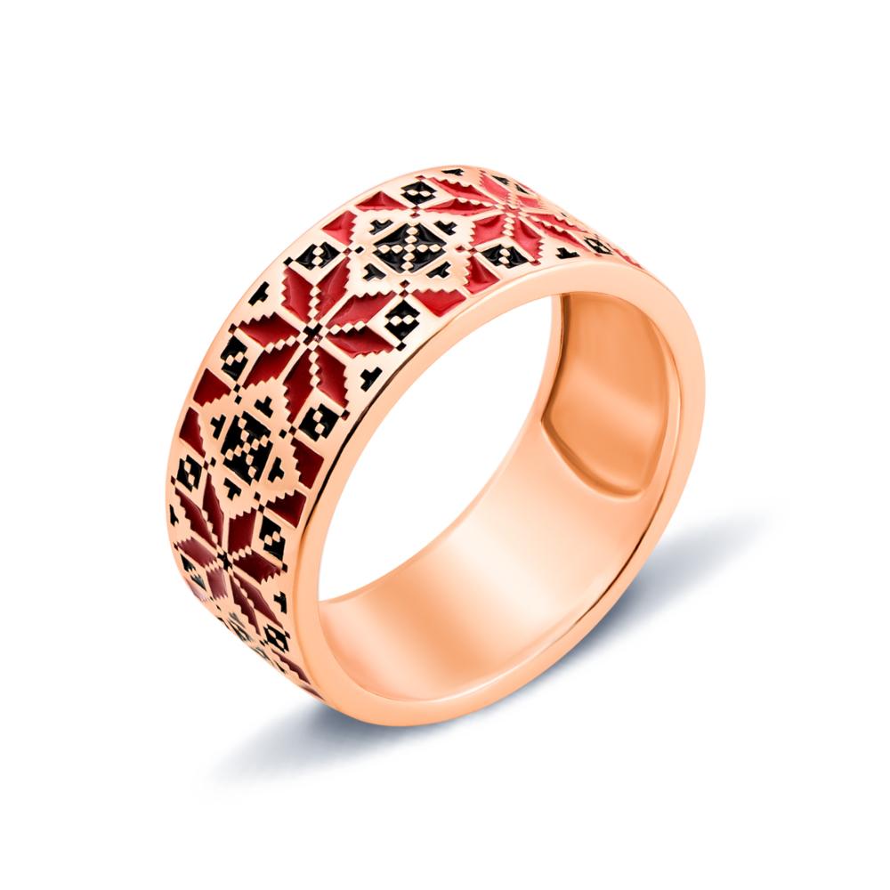 Золотое кольцо «Звезда Алатырь». Артикул 13147/01/0/606