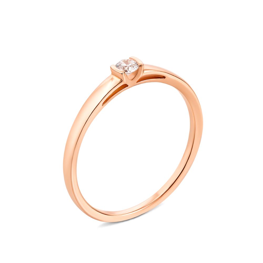 Золотое кольцо с фианитом. Артикул 13155/01/0/28