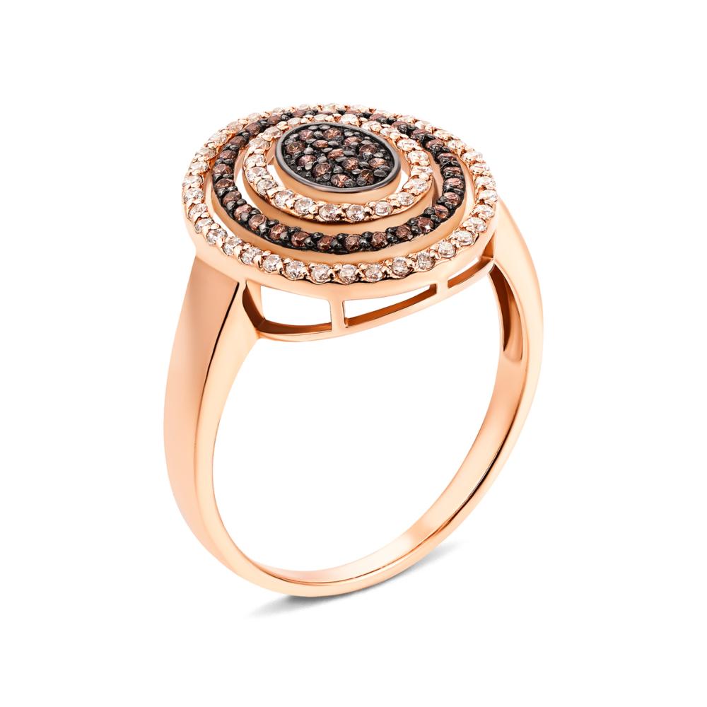 Золотое кольцо с фианитами. Артикул 13171/01/1/173