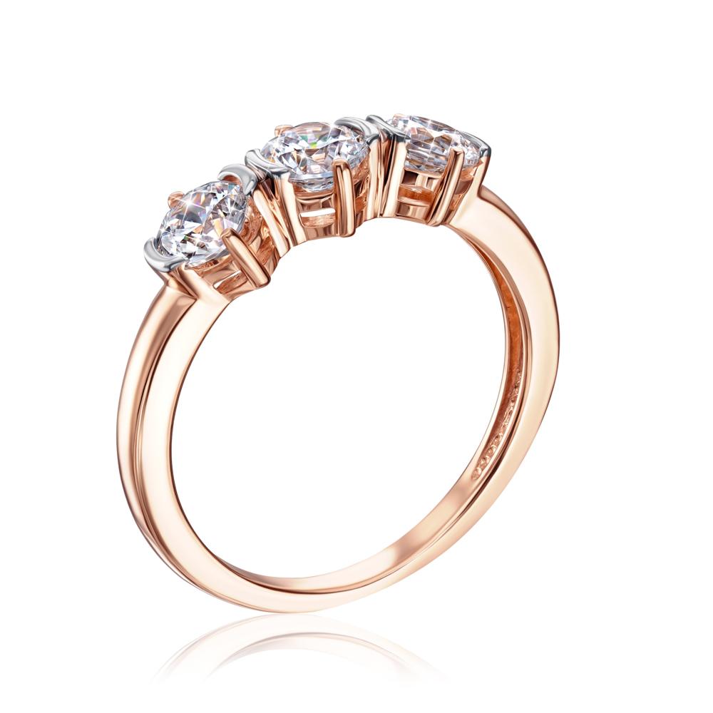 Золотое кольцо с фианитами Swarovski. Артикул 13243/01/1/206