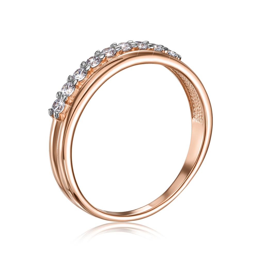 Золотое кольцо с фианитами Swarovski. Артикул 13294/01/1/678