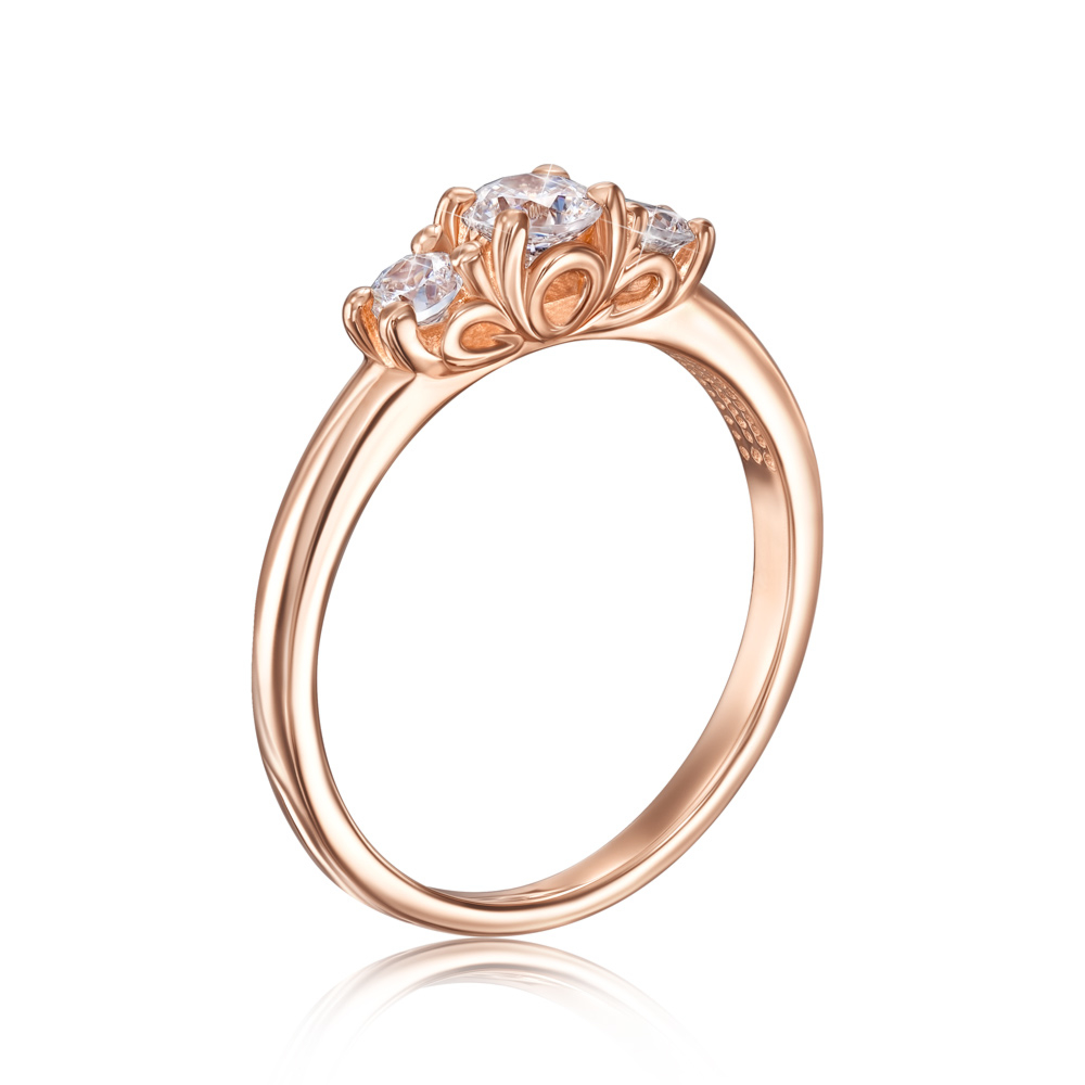 Золотое кольцо с фианитами Swarovski. Артикул 13318/01/0/1829