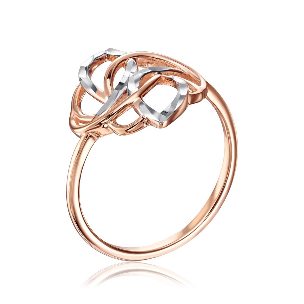 Золотое кольцо с алмазной гранью. Артикул 13320/01/3