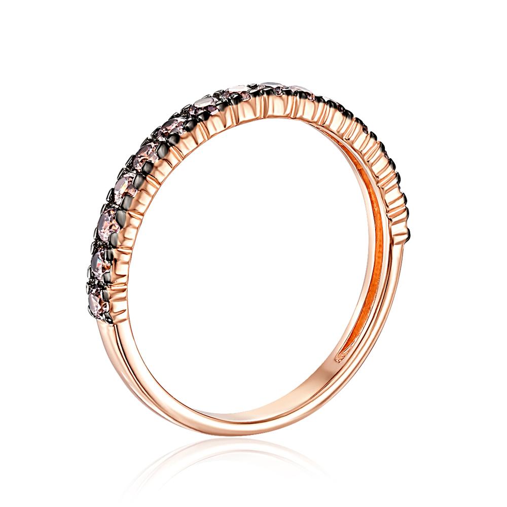 Золотое кольцо с фианитами. Артикул 13346/01/1/1946