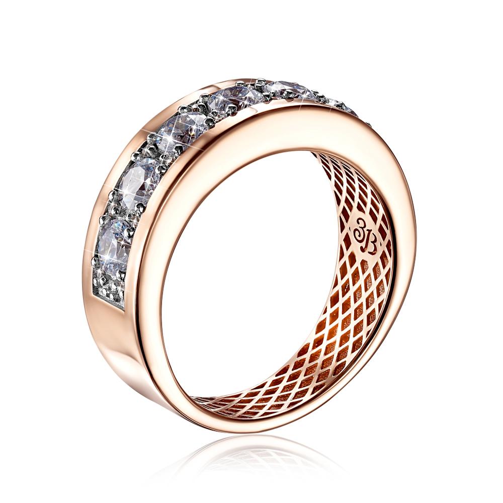 Золотое кольцо с фианитами Swarovski. Артикул 13451/01/1/2133