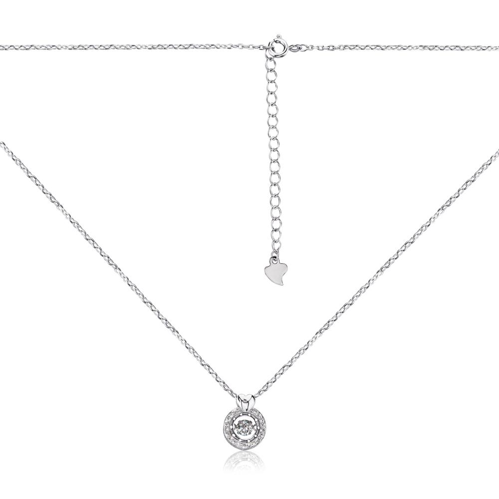 Срібне кольє з фіанітами. Артикул 1NE55714-K/12/1