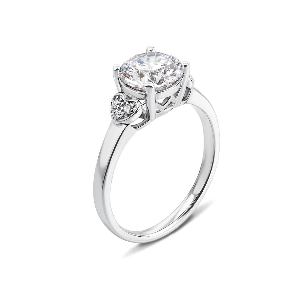 Серебряное кольцо с фианитами. Артикул 1R159008-R
