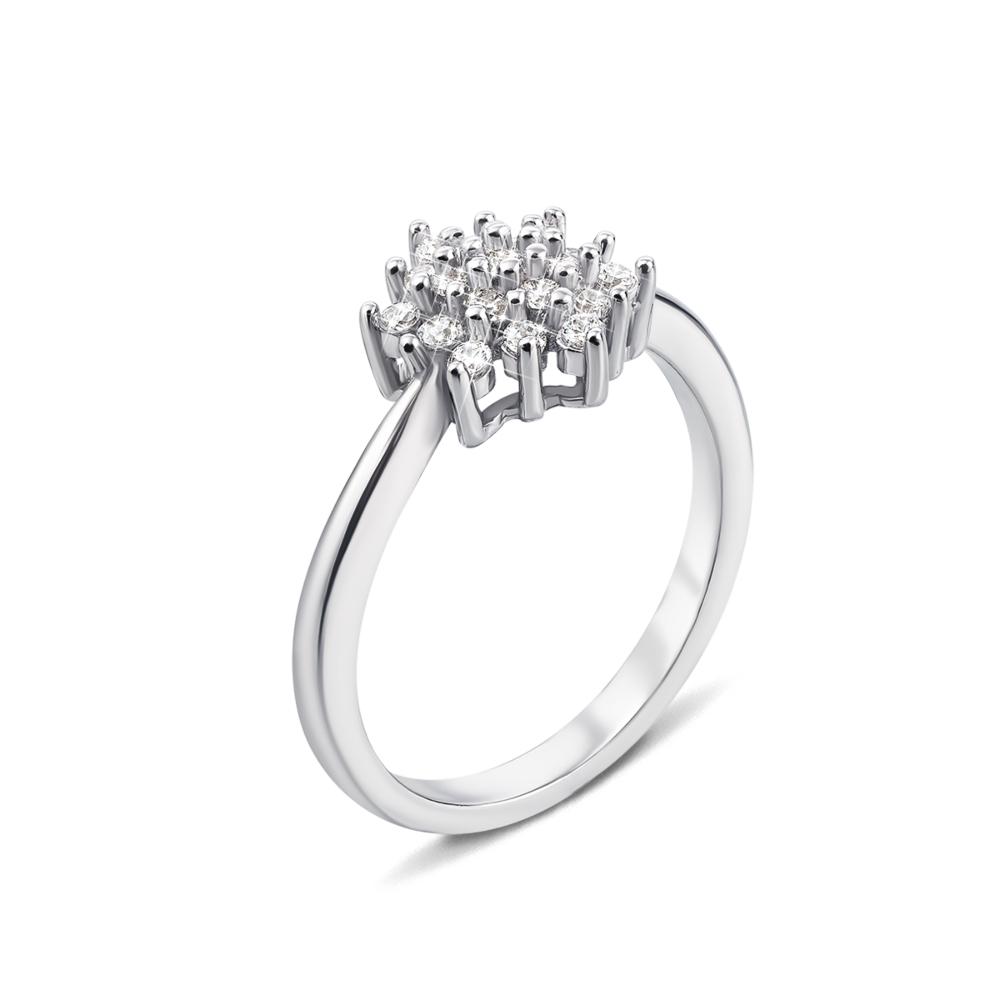 Серебряное кольцо с фианитами. Артикул 1RI50427-R