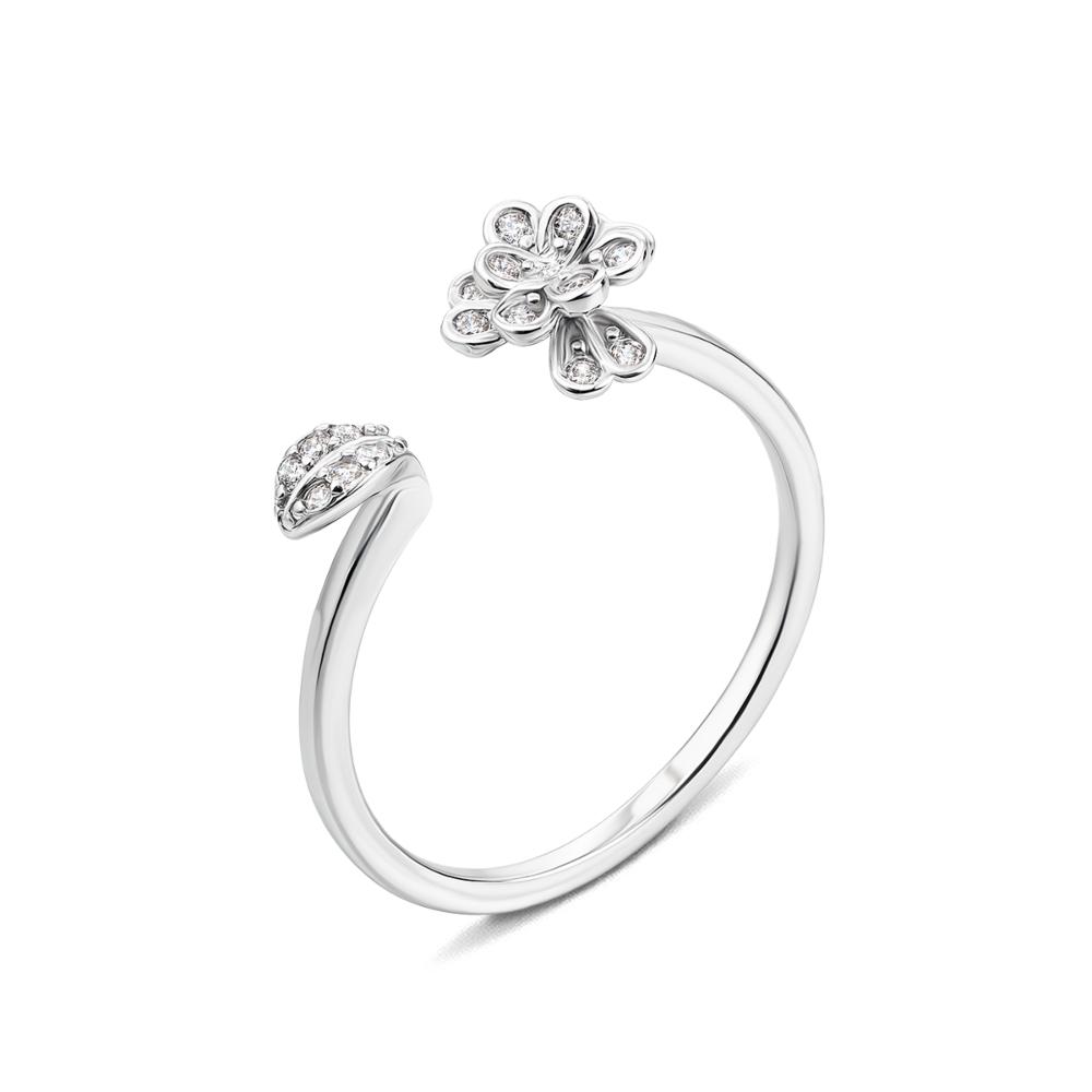Серебряное кольцо с фианитами. Артикул 1RI51365/0-R