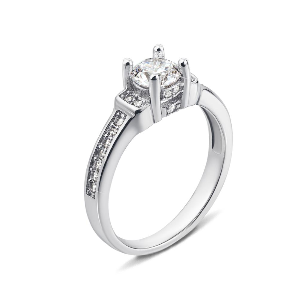 Серебряное кольцо с фианитами. Артикул 1RI58485-R