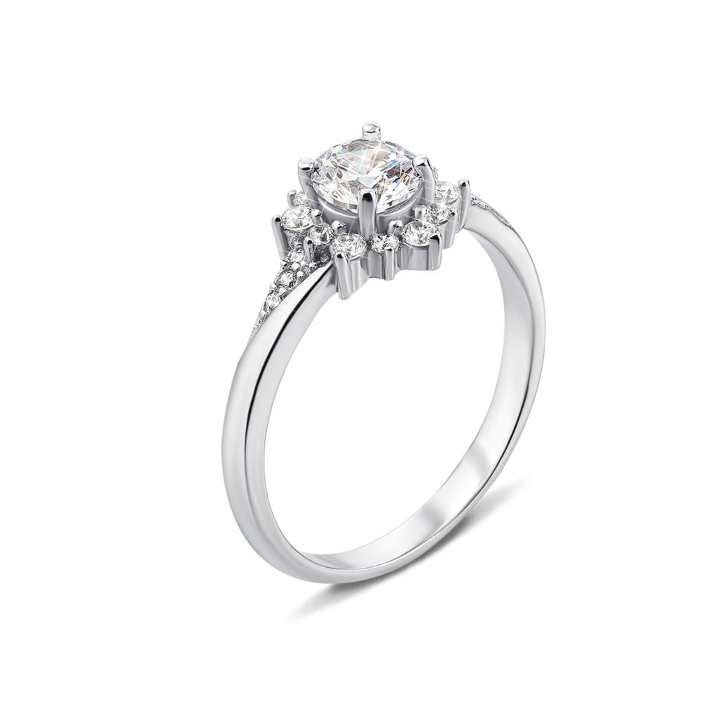 Серебряное кольцо с фианитами. Артикул 1RI58590-R