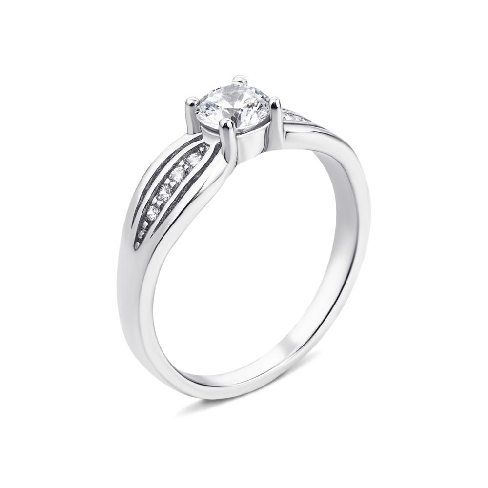 Серебряное кольцо с фианитами. Артикул 1RI59918-R