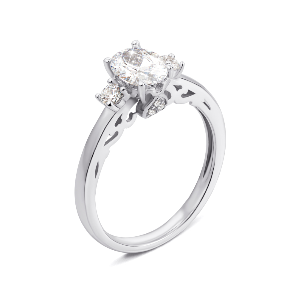 Серебряное кольцо с фианитами. Артикул 1RI62356-R