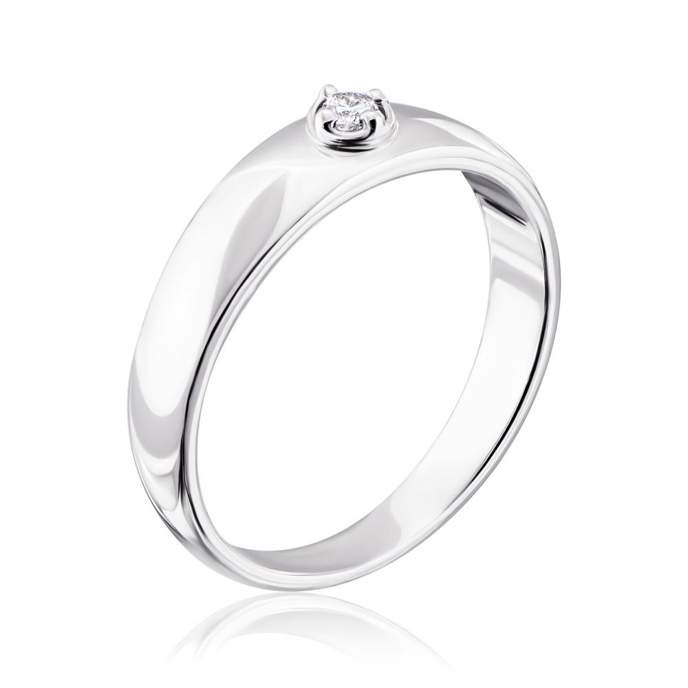 Срібна каблучка з діамантом. Артикул 810002/12/1/8554
