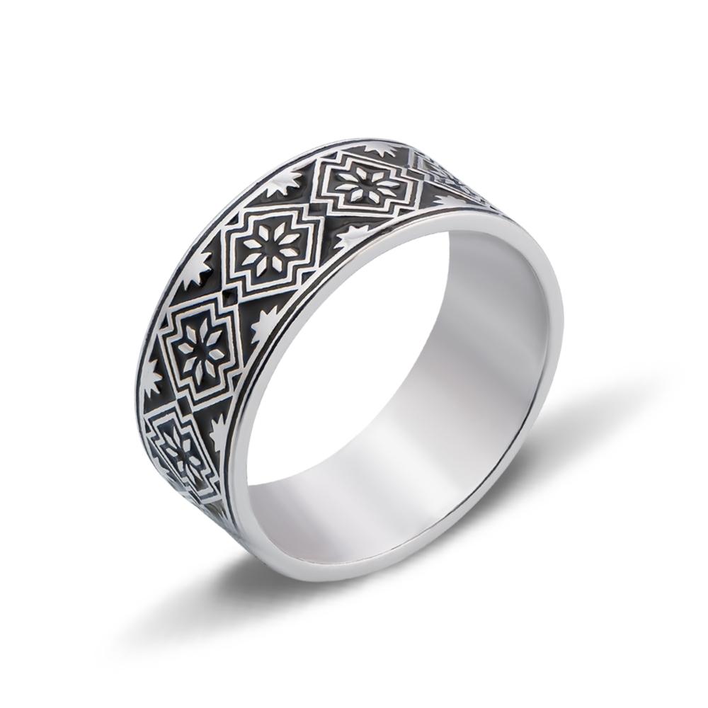 Серебряное кольцо «Звезда Алатырь». Артикул с00749/ч