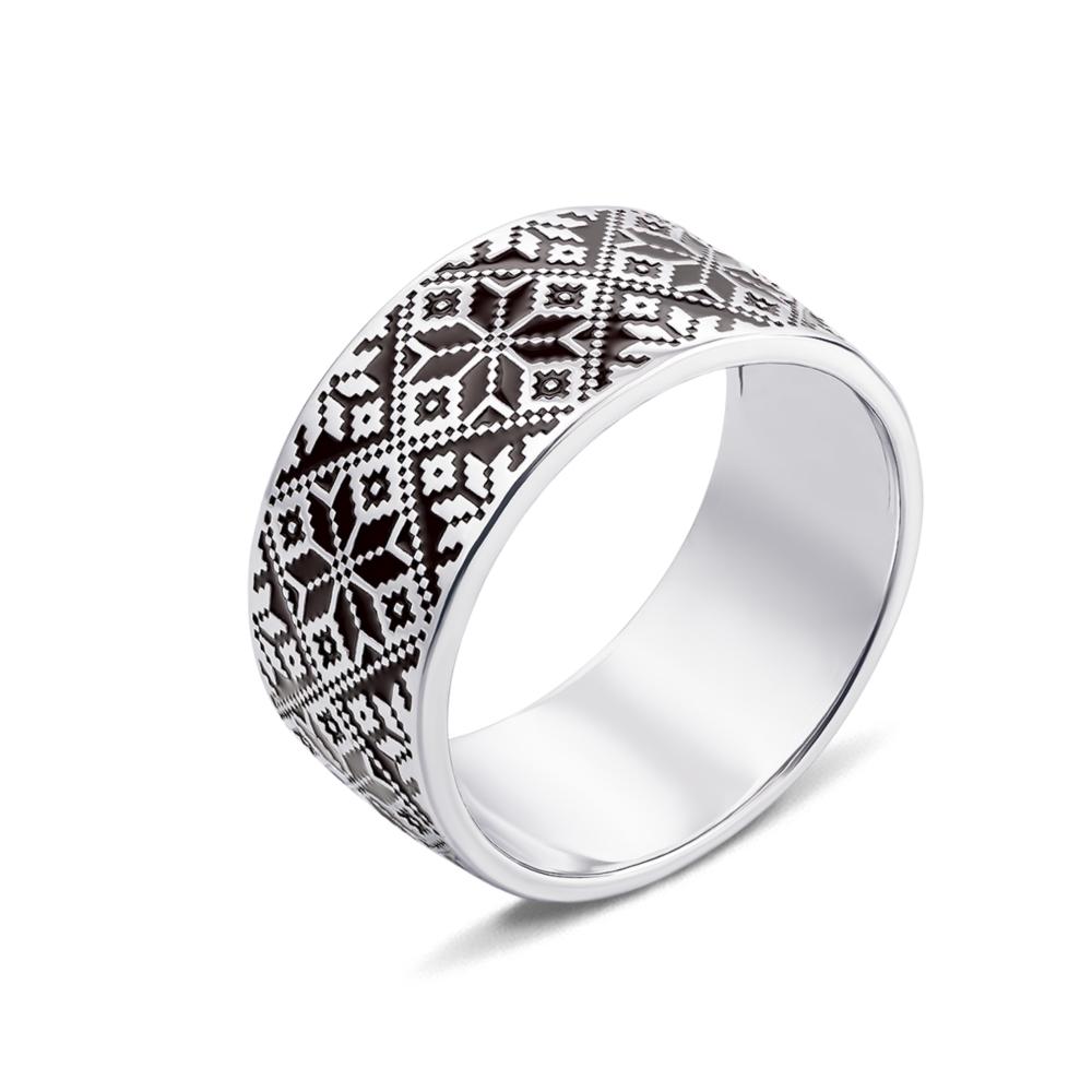 Серебряное кольцо «Звезда Алатырь». Артикул с00776/ч