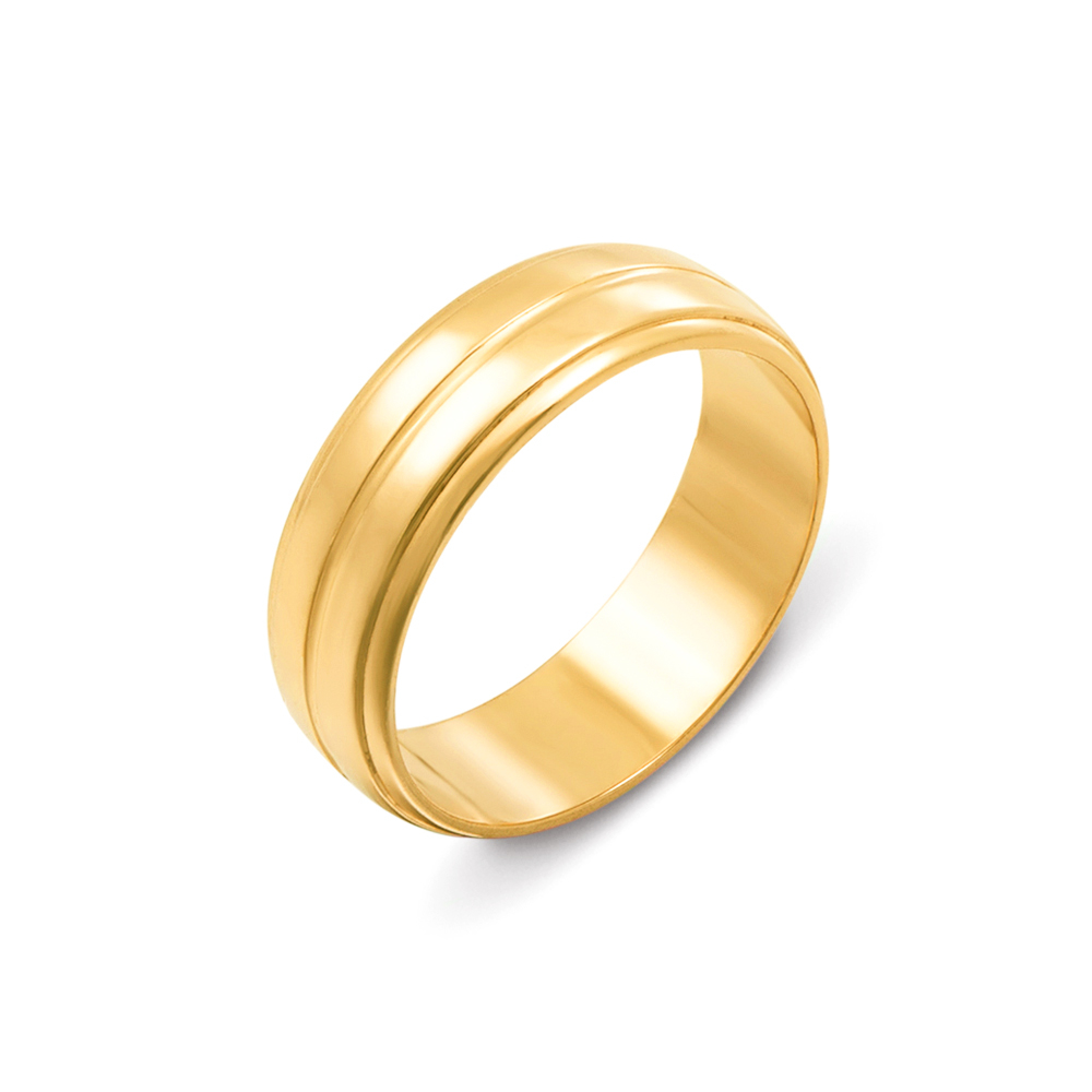 Обручальное кольцо из лимонного золота. Артикул 10108/1л