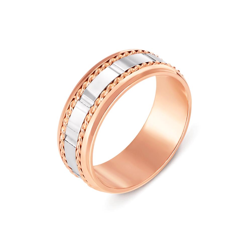 Обручальное кольцо комбинированное. Артикул 1058
