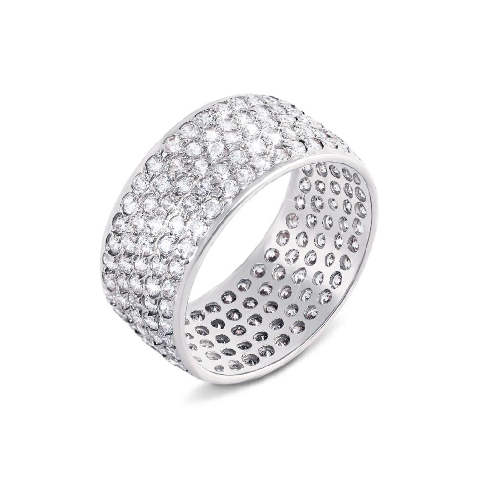 Золотое кольцо с фианитами. Артикул 11455/б