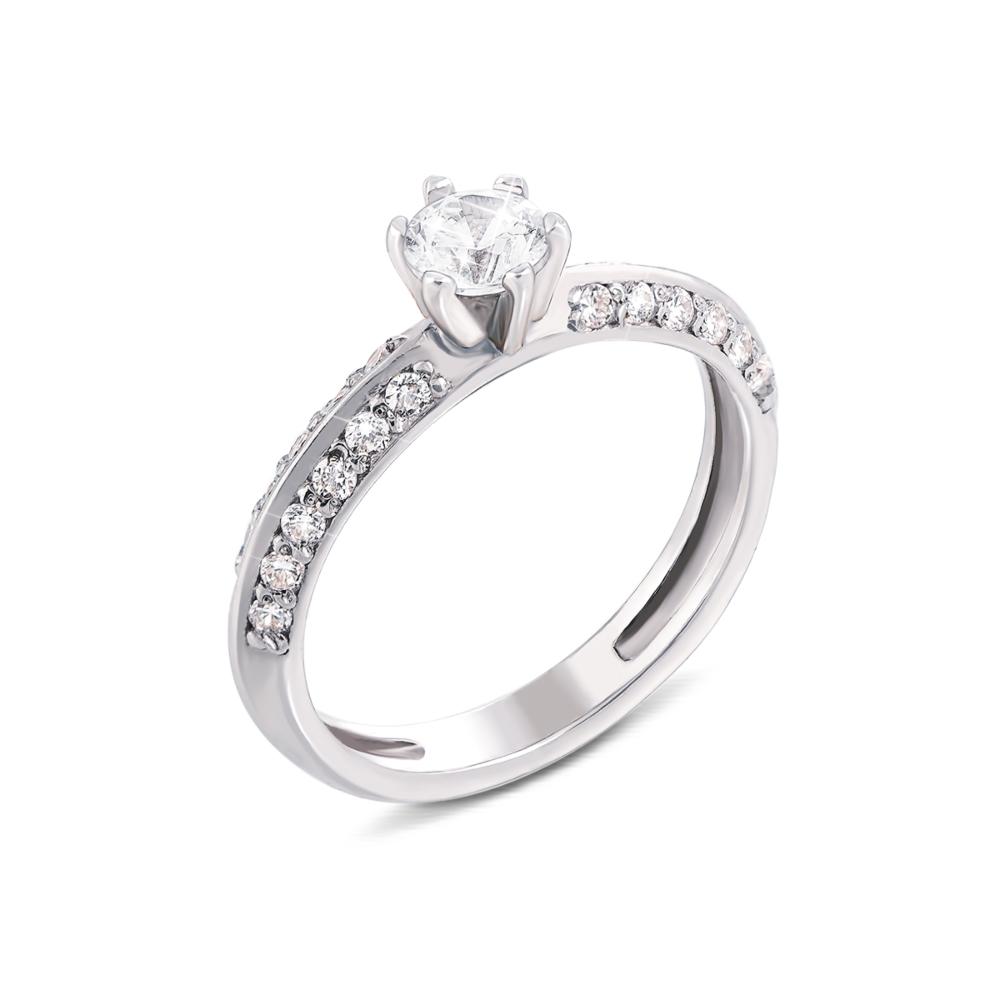 Золотое кольцо с фианитами. Артикул 12013/б