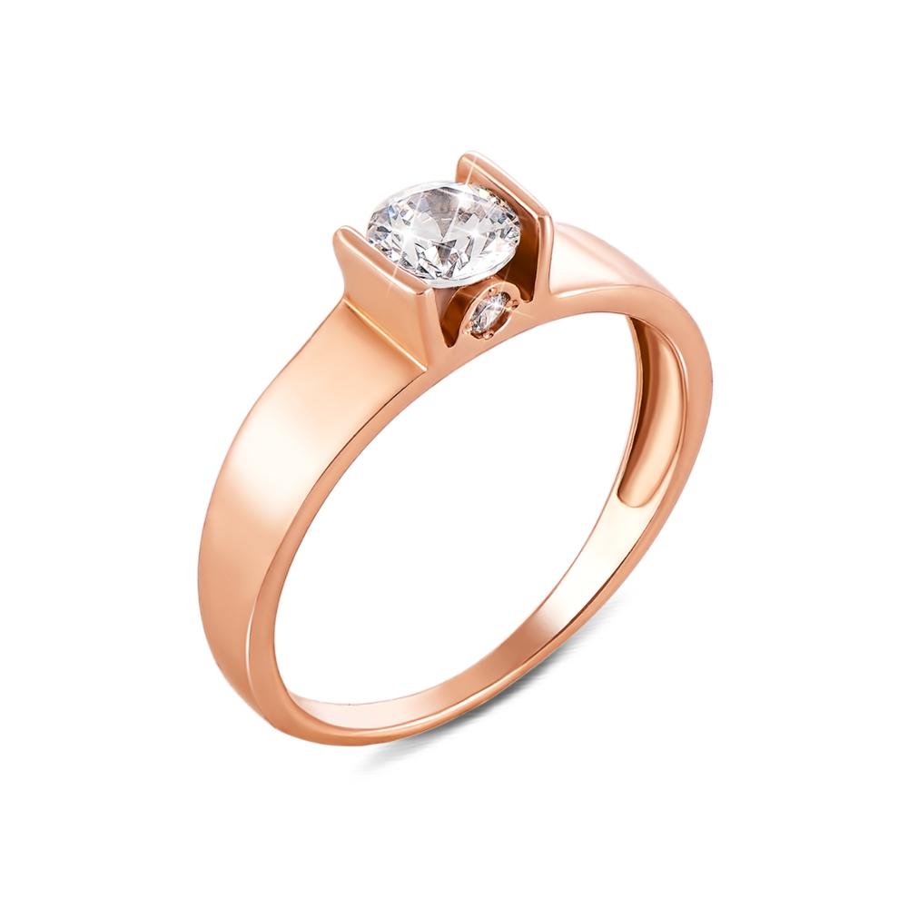 Золотое кольцо с фианитами. Артикул 12159