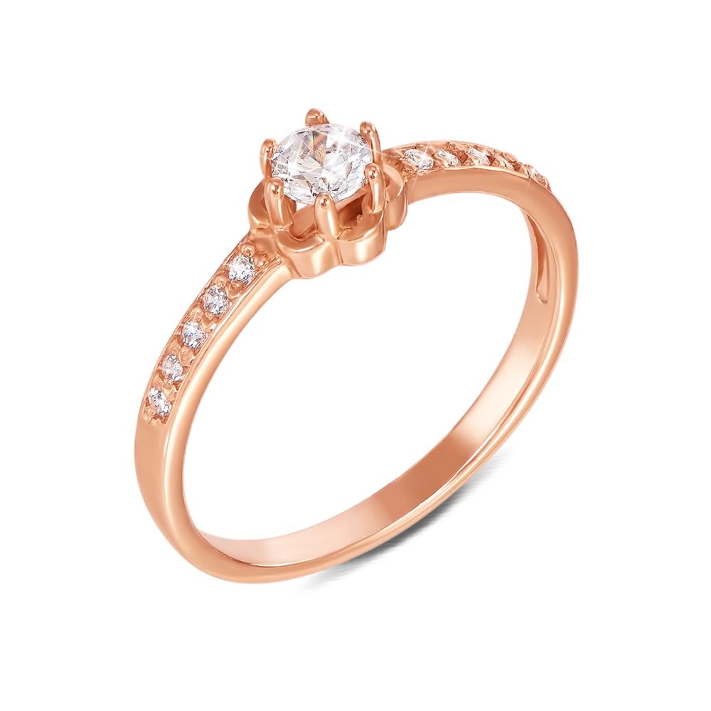 Золотое кольцо с фианитами. Артикул 12274 с