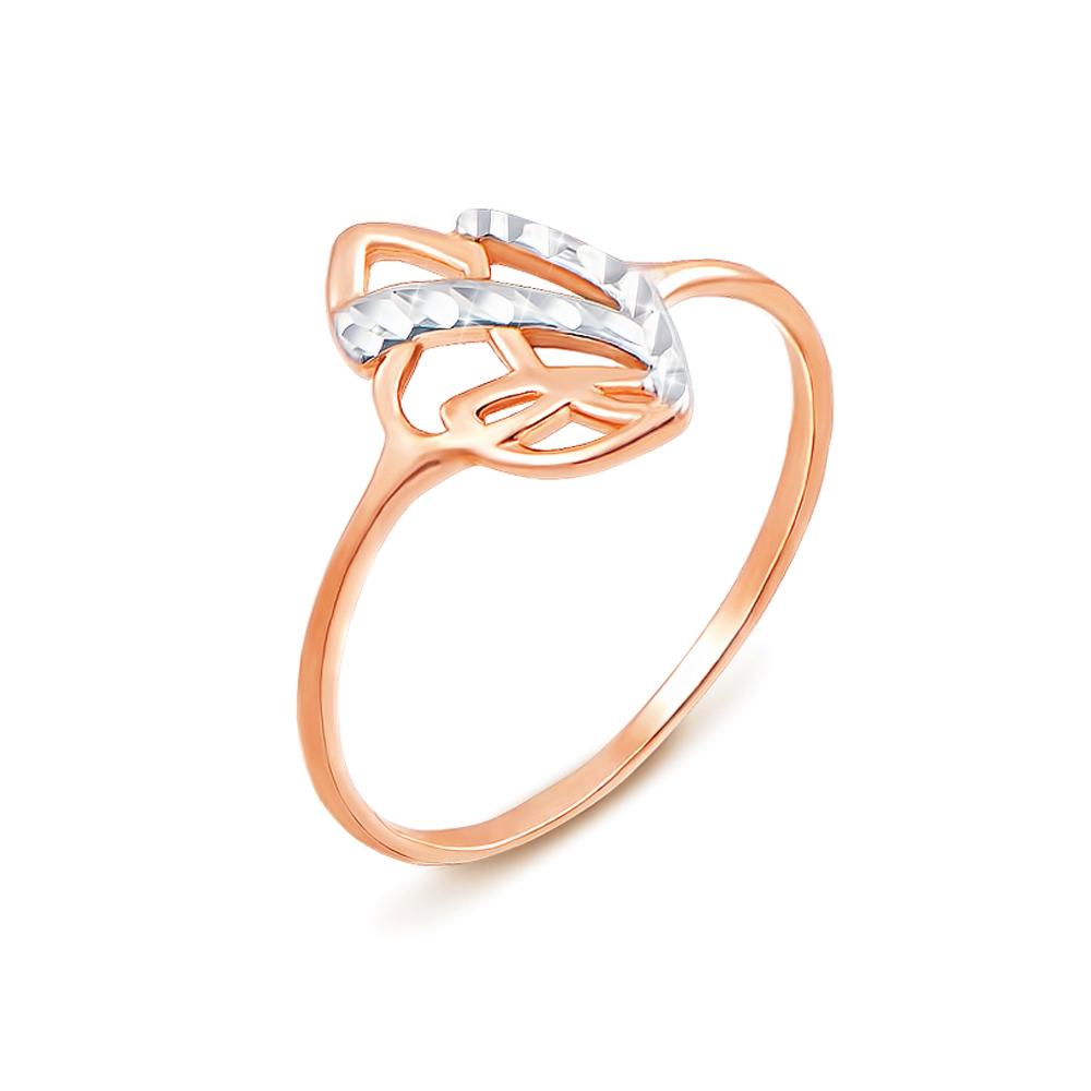 Золотое кольцо с алмазной гранью. Артикул 12408