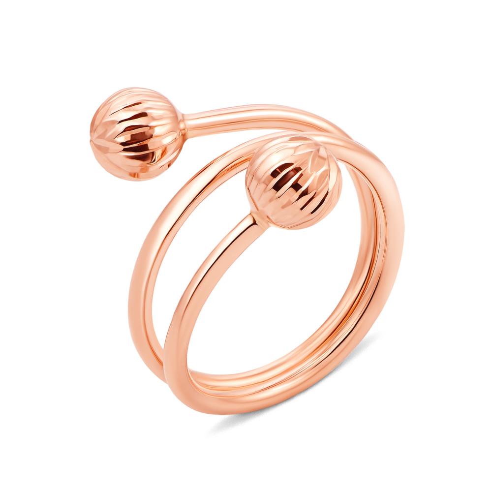 Фаланговое золотое кольцо с шариками (01916-1/01/2)