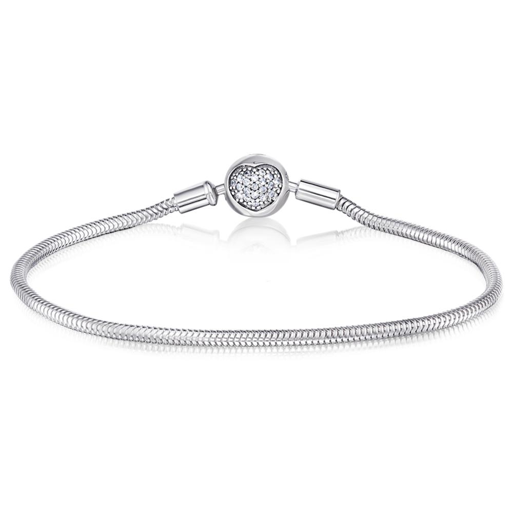 Срібний браслет для намистин з фіанітами. Артикул H2683-B/12/1