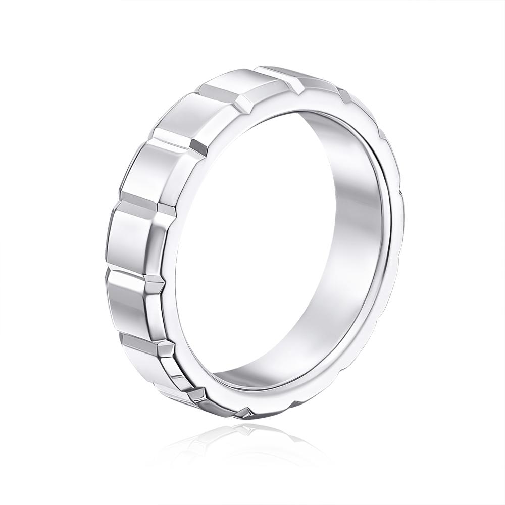 Обручальное кольцо с алмазной гранью. Артикул 10003б