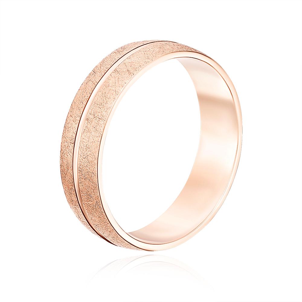 Обручальное кольцо с алмазной гранью. Артикул 10135