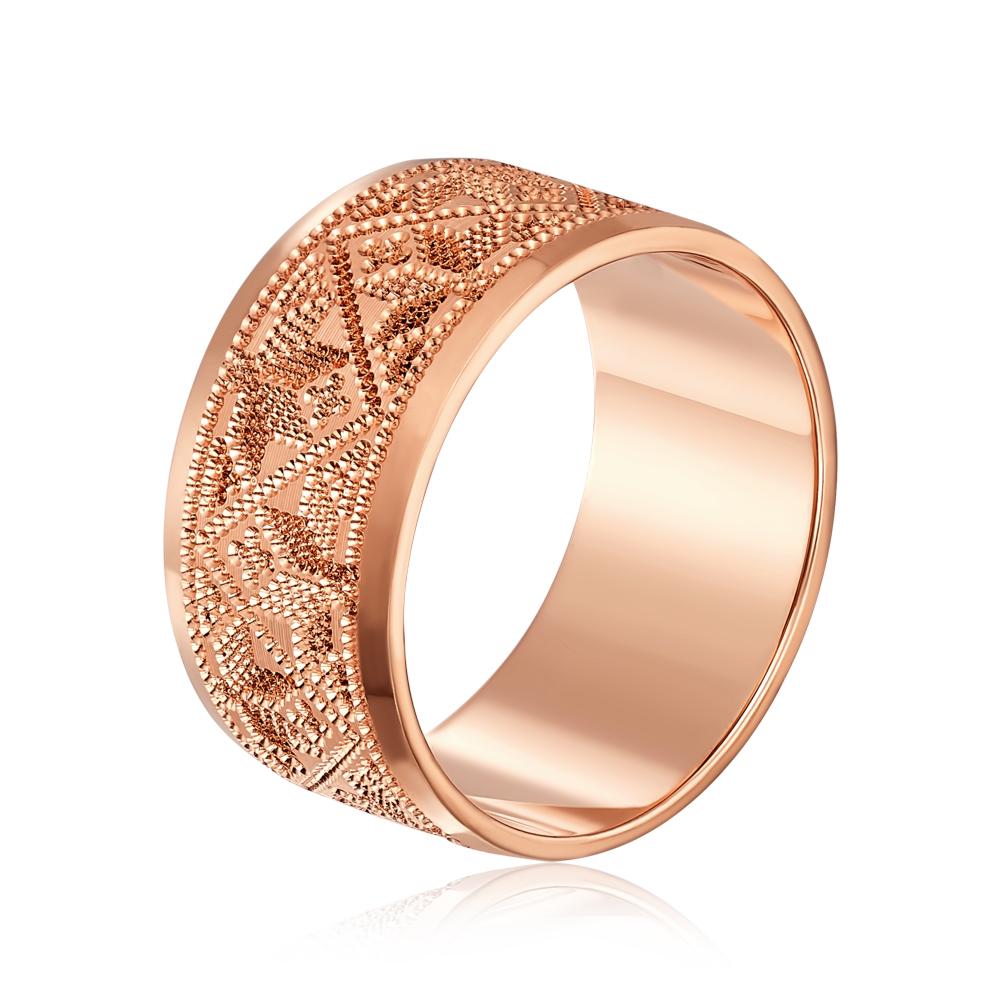Обручальное кольцо с алмазной гранью. Артикул 10165/1