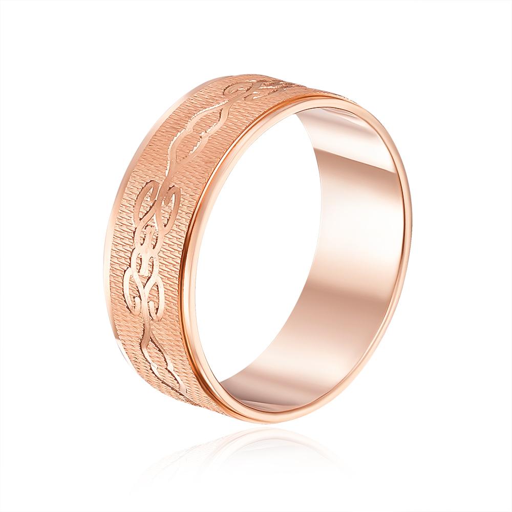 Обручальное кольцо с алмазной гранью. Артикул 1070/2