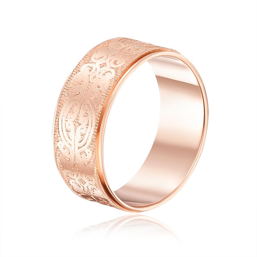 Обручальное кольцо с алмазной гранью. Артикул 1070/4