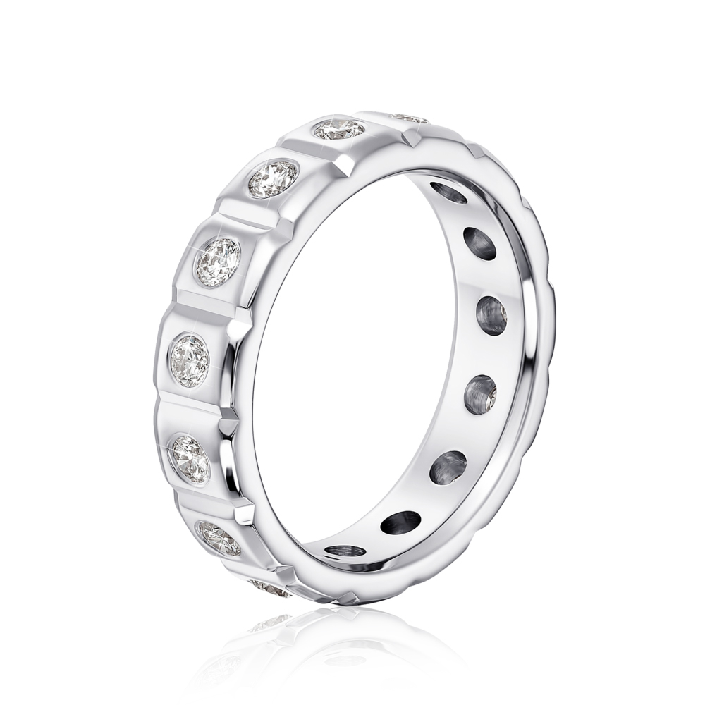 Обручальное кольцо с бриллиантами. Артикул 10003/2.25б