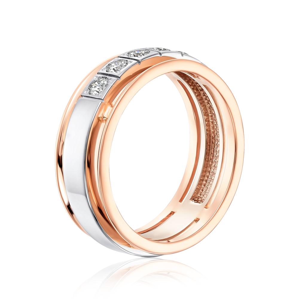 Обручальное кольцо с бриллиантами. Артикул 1013/14/1/8002 (1013/2.25)
