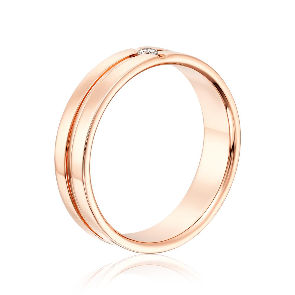Обручальное кольцо с бриллиантом. Артикул 10005/2.25