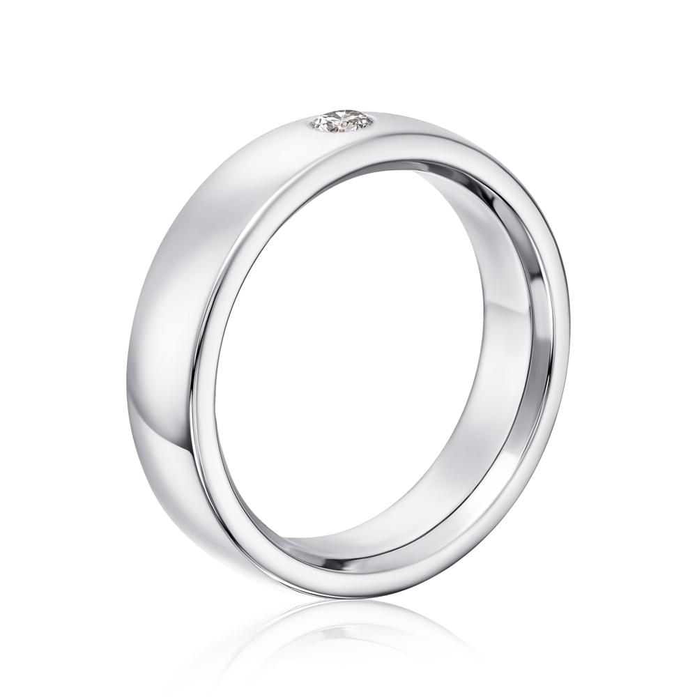 Обручка з діамантом. Артикул 1004/3б