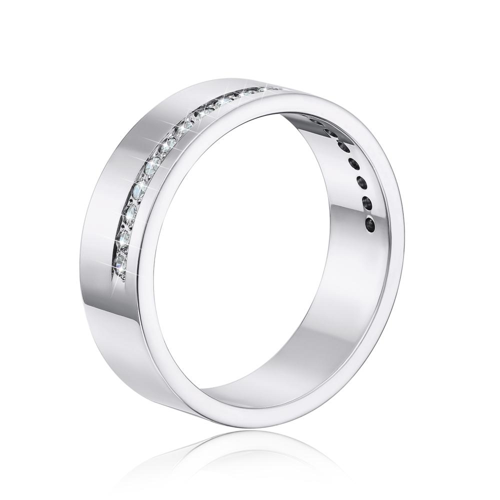 Обручальное кольцо с фианитами. Артикул 1078б
