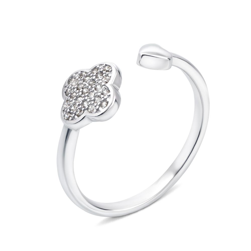 Серебряное кольцо Цветок с фианитами (1RI62343/0-R)