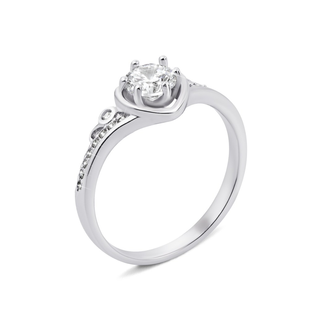 Серебряное кольцо с фианитами (1RI56260-R/12/1)