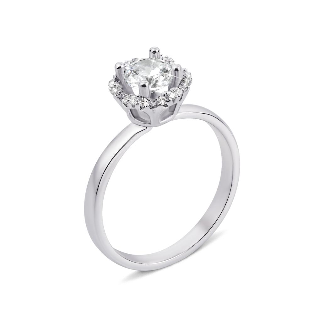 Серебряное кольцо с фианитами (1RI57003-R)